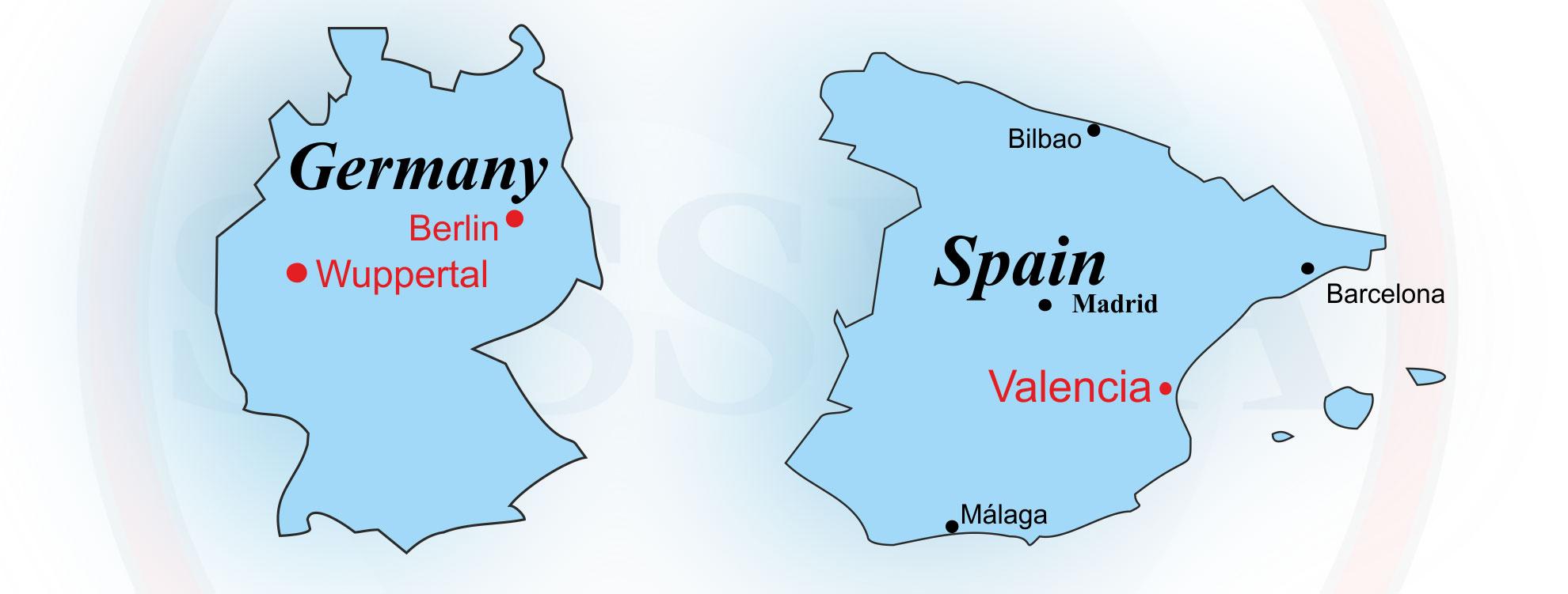 Standorte Deutschland und Spanien